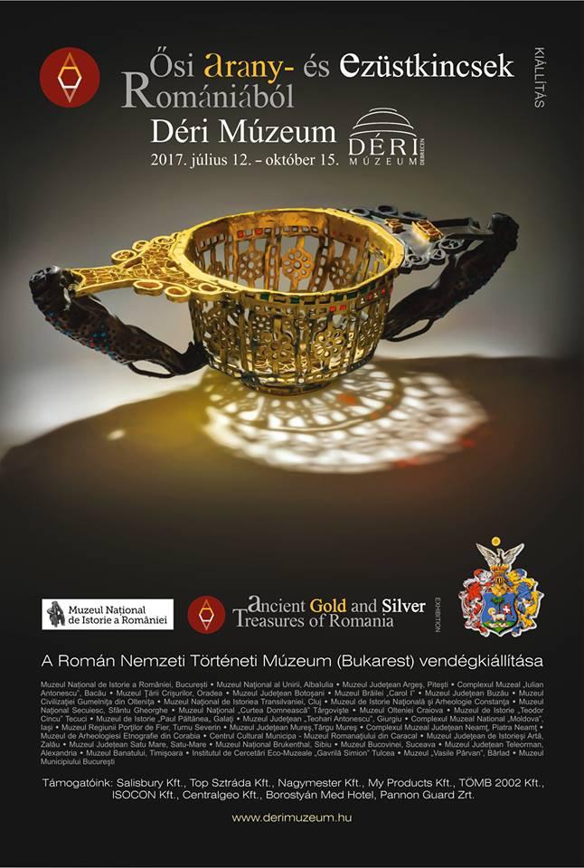"""Deschiderea expoziției """"Aurul și argintul antic al României"""" la Debrecen, Ungaria"""