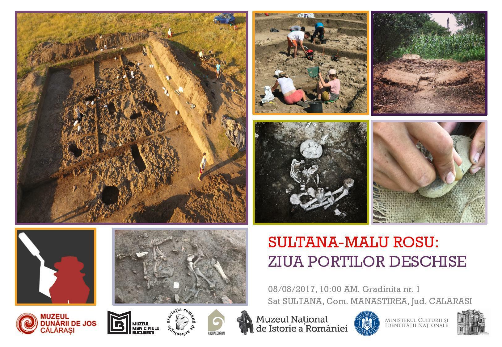Ziua Porților Deschise de pe șantierul arheologic Sultana-Malu Roșu