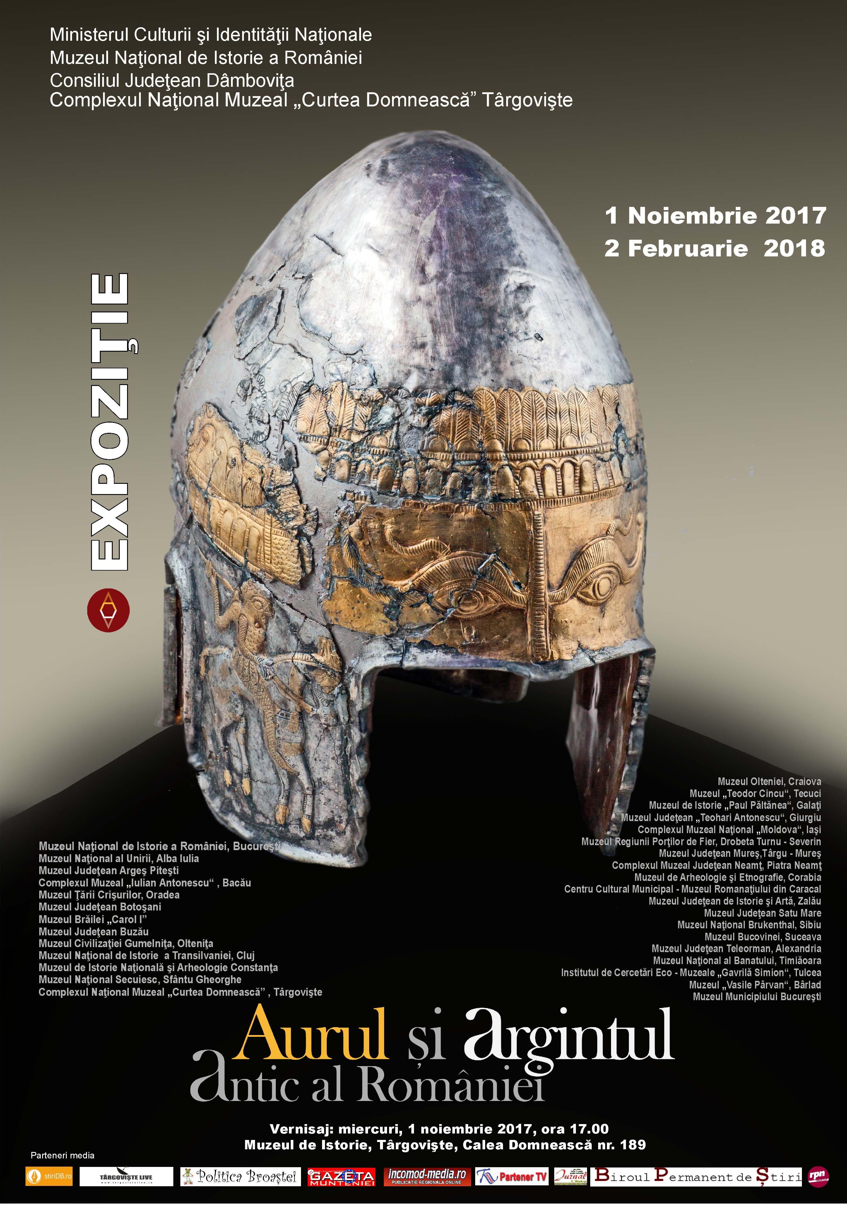 """Deschiderea expoziției """"Aurul și argintul antic al României"""" la Târgoviște"""