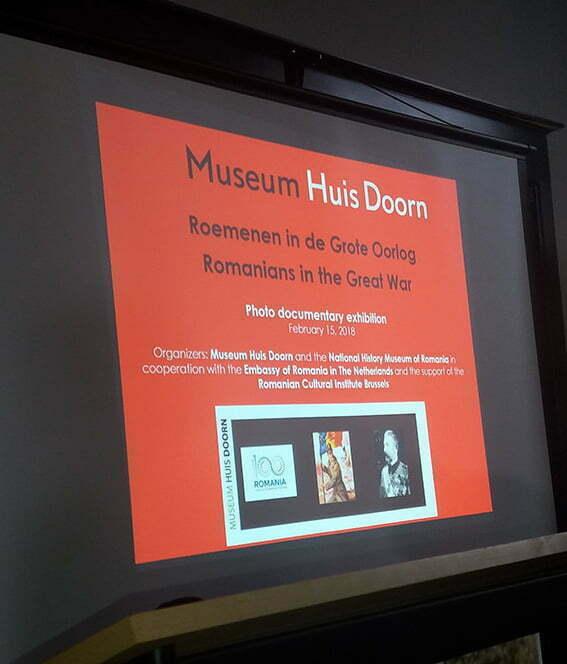"""O experiență deosebită: expoziția """"Românii și Marele Război"""" la Muzeul Huis Doorn"""