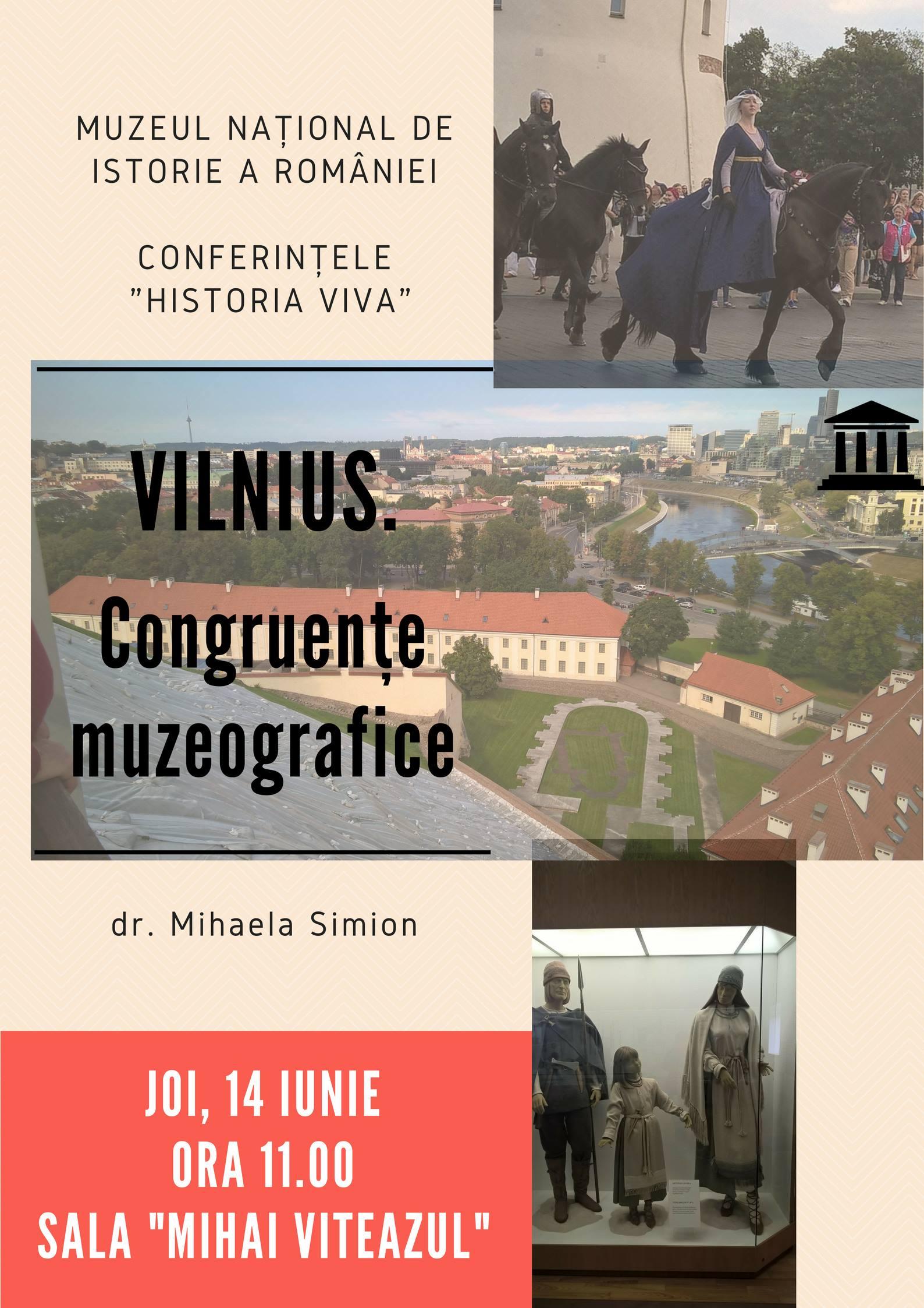 """""""Vilnius. Congruențe muzeografice"""" – o nouă prelegere în cadrul seriei de conferințe publice """"Historia Viva"""""""