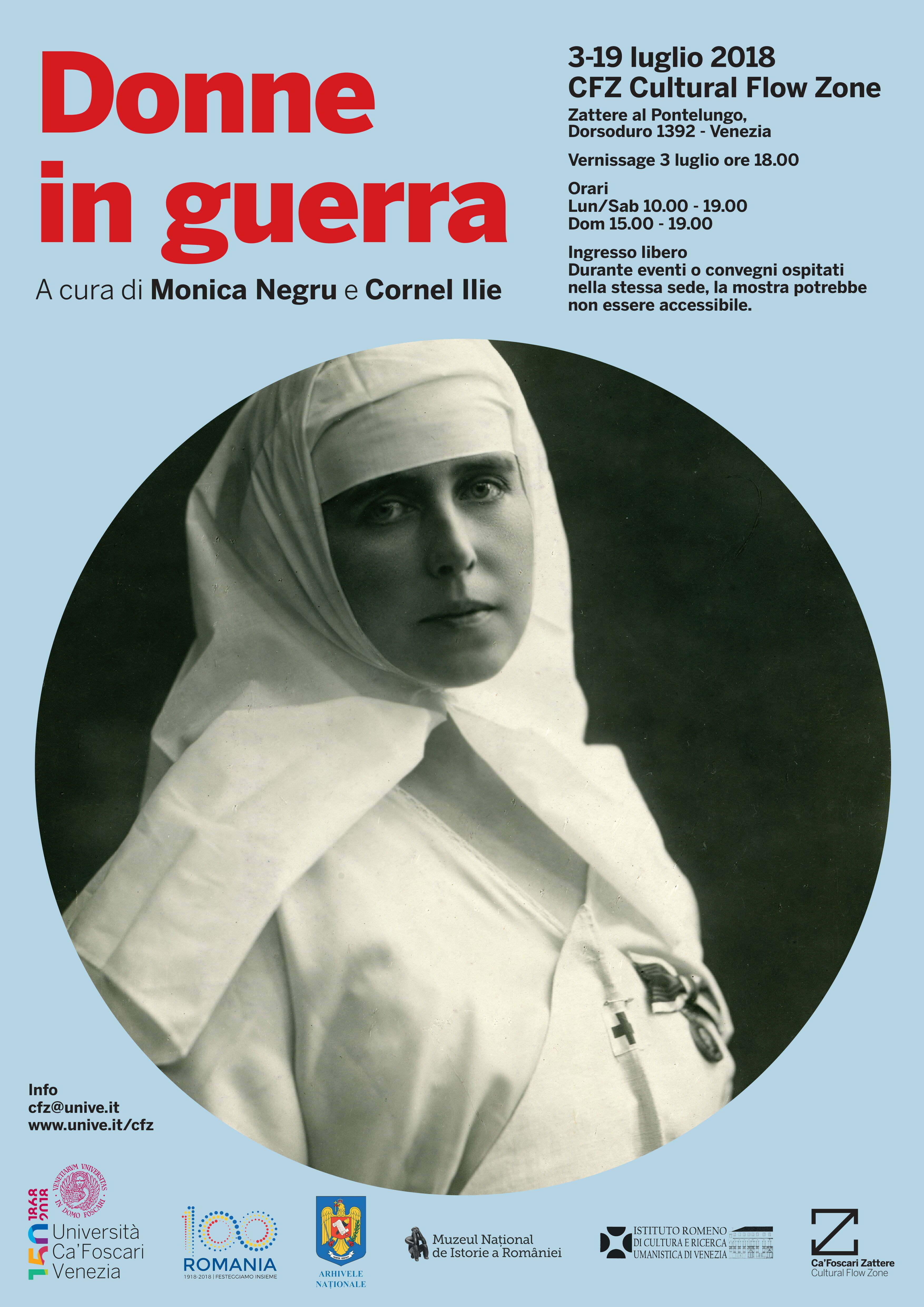 """Deschiderea expoziţiei foto-documentare """"Femeile de pe front (1916–1918). Centenarul Primului Război Mondial şi al Marii Uniri"""", la Veneția, Italia"""