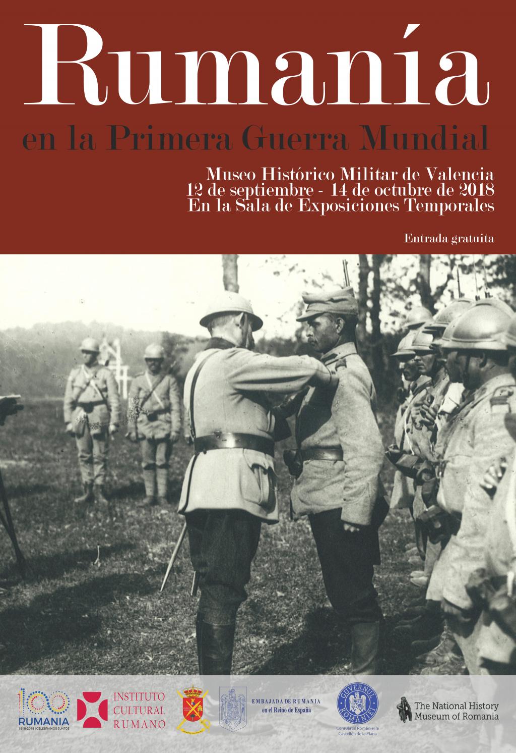 """Deschiderea expoziției temporare """"România în Primul Război Mondial"""" la Muzeul de Istorie Militară din Valencia, Spania"""